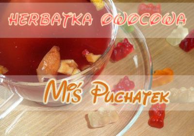Herbatka owocowa dla dzieci z żelkami – Miś Puchatek.