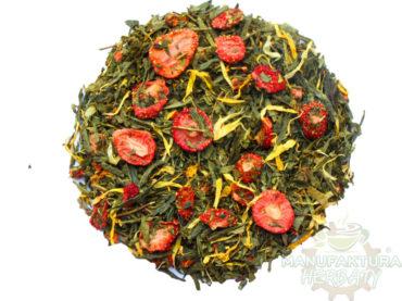 pyszna truskawka herbata zielona